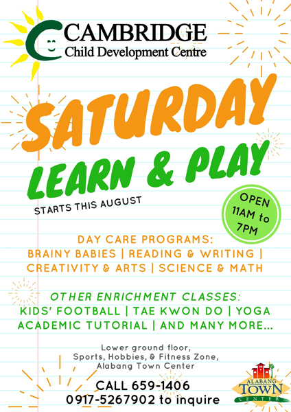 Saturday Learn and Play Starting August Image