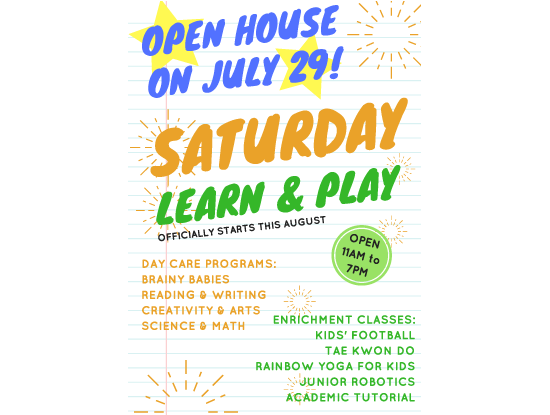 July 29 Saturday Enrichment Festival Featured Image