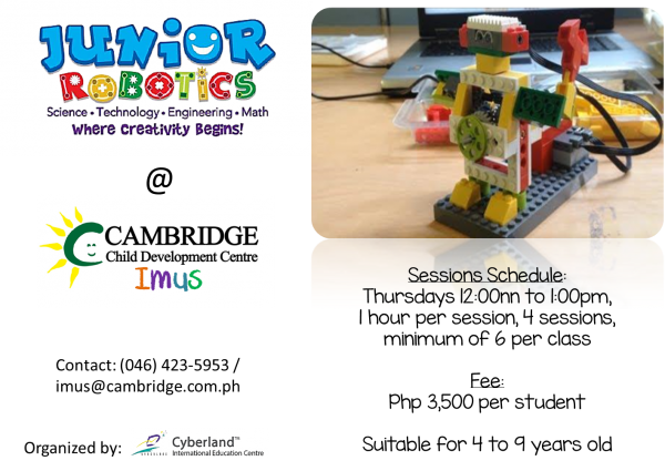Cambridge Imus - Junior Robotics