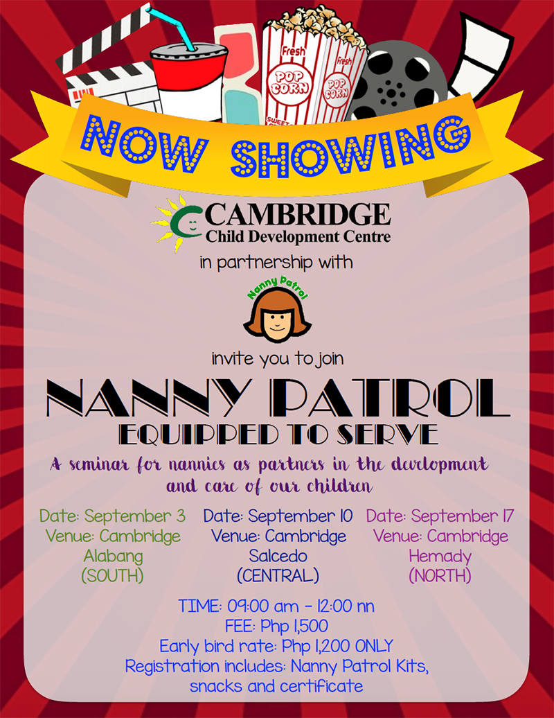 nanny patrol cambridge child development centre metro nanny patrol 2016
