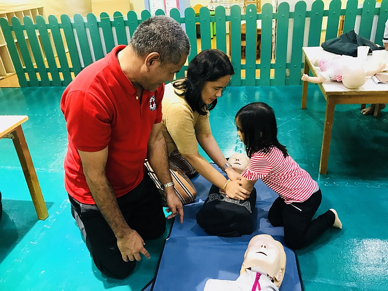 First Aid Training hands-on practice