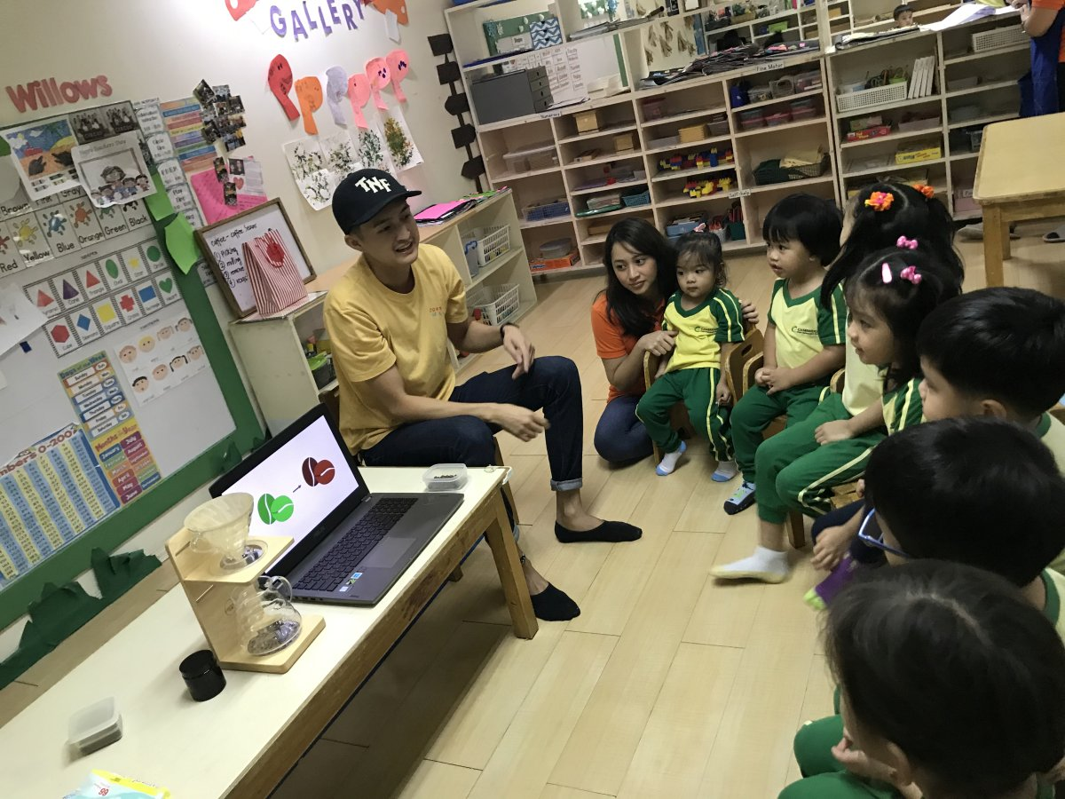 Kinder kids learn about coffee 02