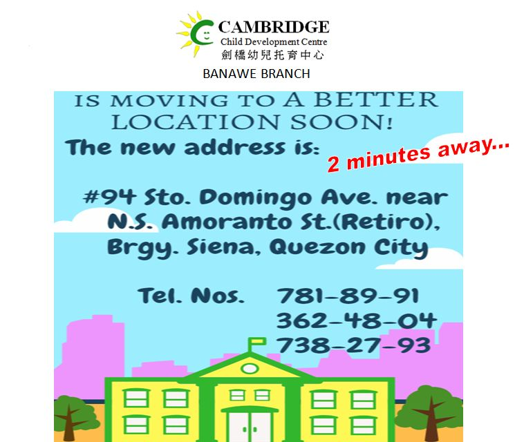 Cambridge Banawe - New Address