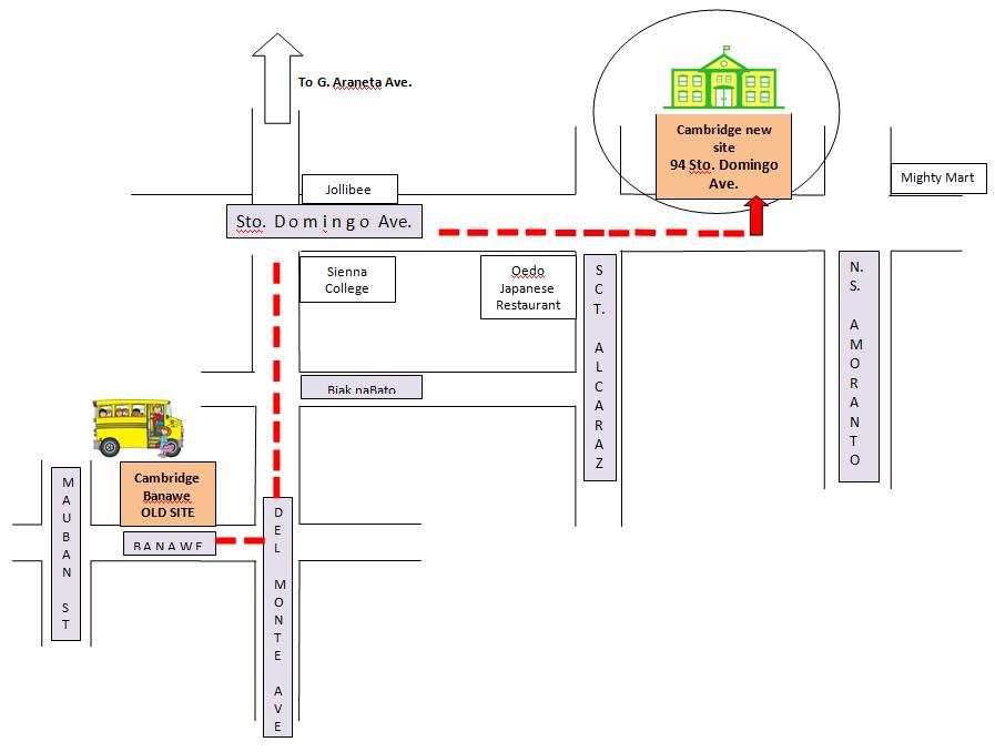Cambridge Banawe - new location travel directions