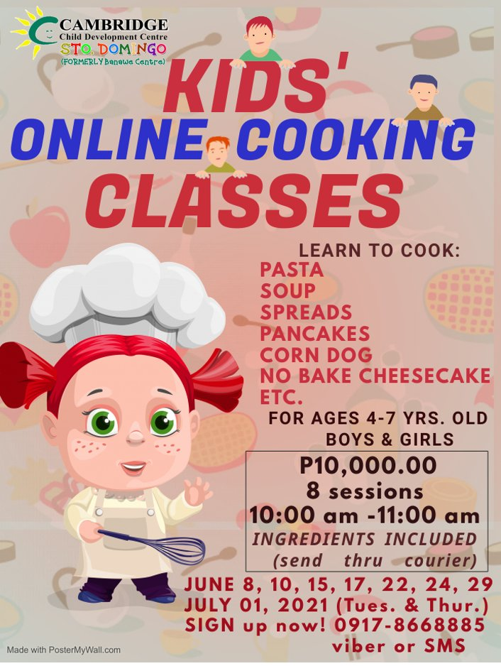 Kids' Online Cooking Class
