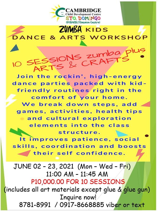Zumba and Arts Workshop