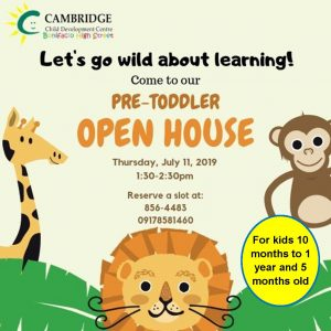 Pre-Toddler Open House