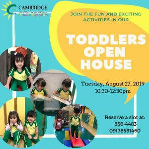 Toddler Open House invite