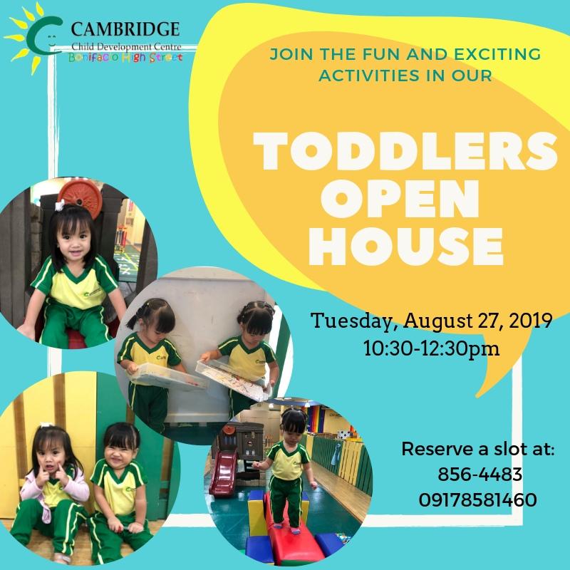 Toddler Open House invite