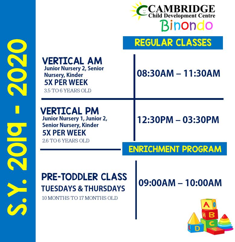 Binondo Class Schedule 1