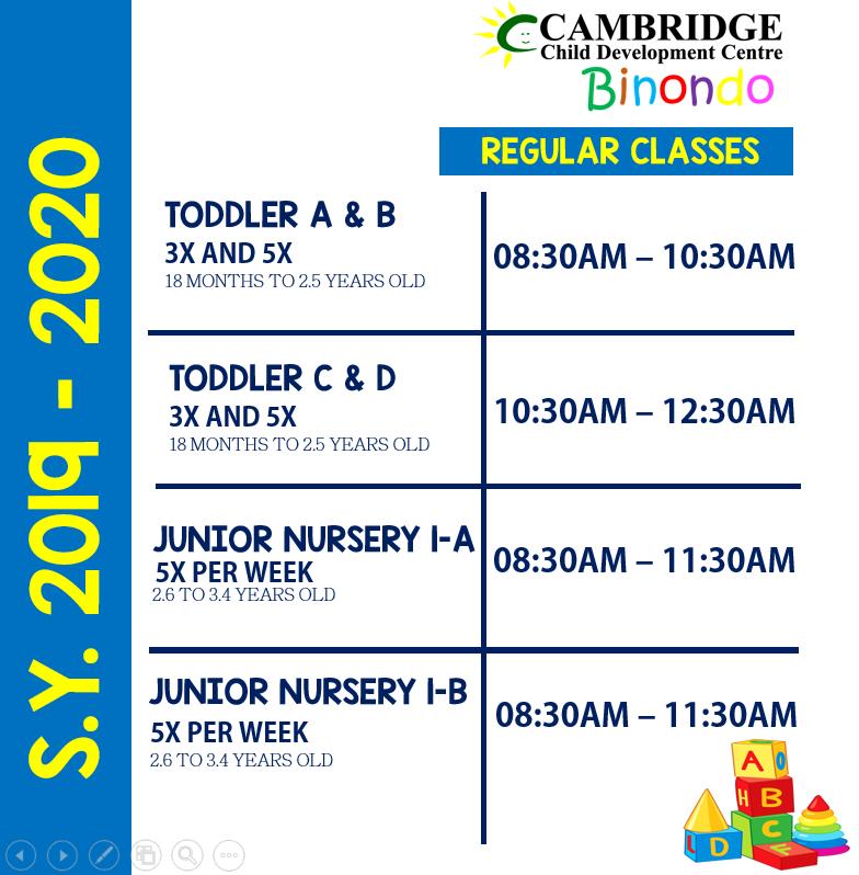 Binondo Class Schedule 2