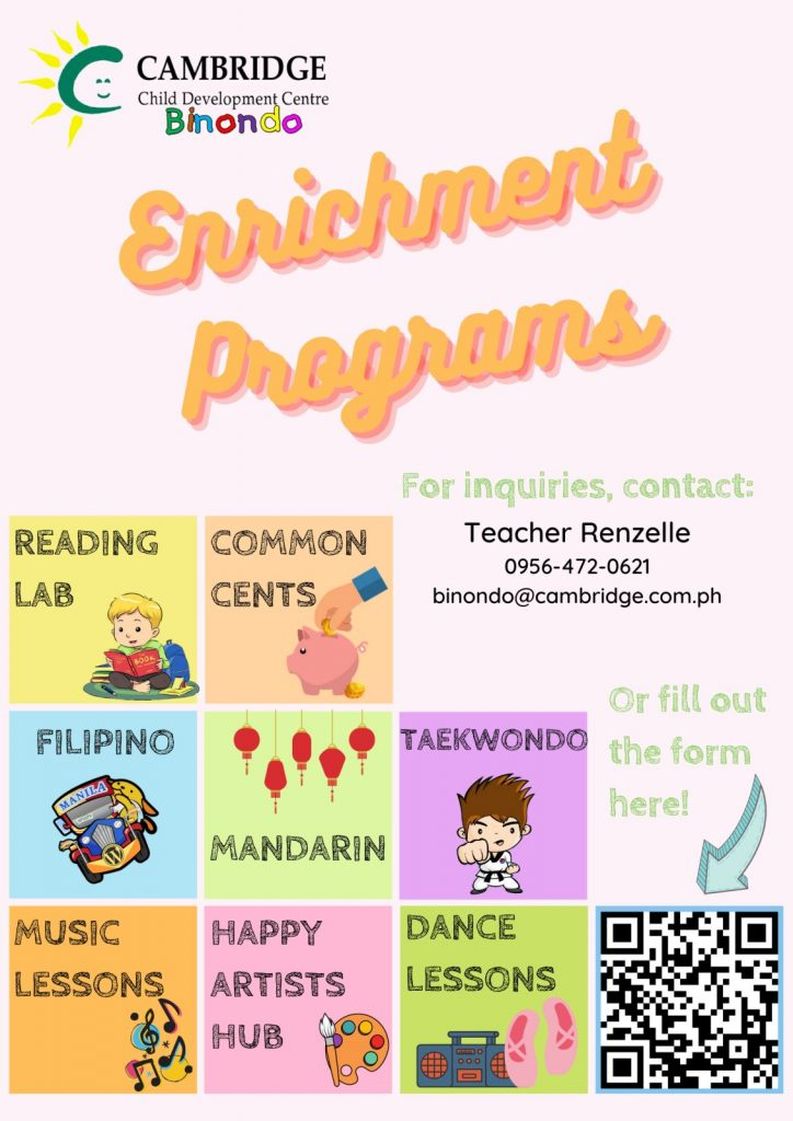 Cambridge Binondo Afternoon Enrichment Programs