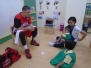 Nursery students learn about basketball