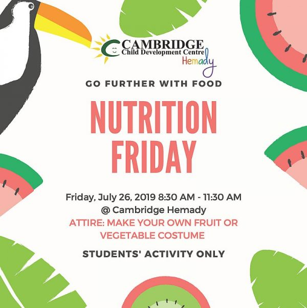Cambridge Hemady Nutrition Friday Poster