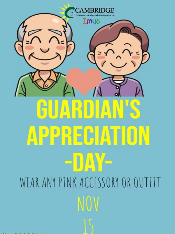 Guardians Appreciation Day poster