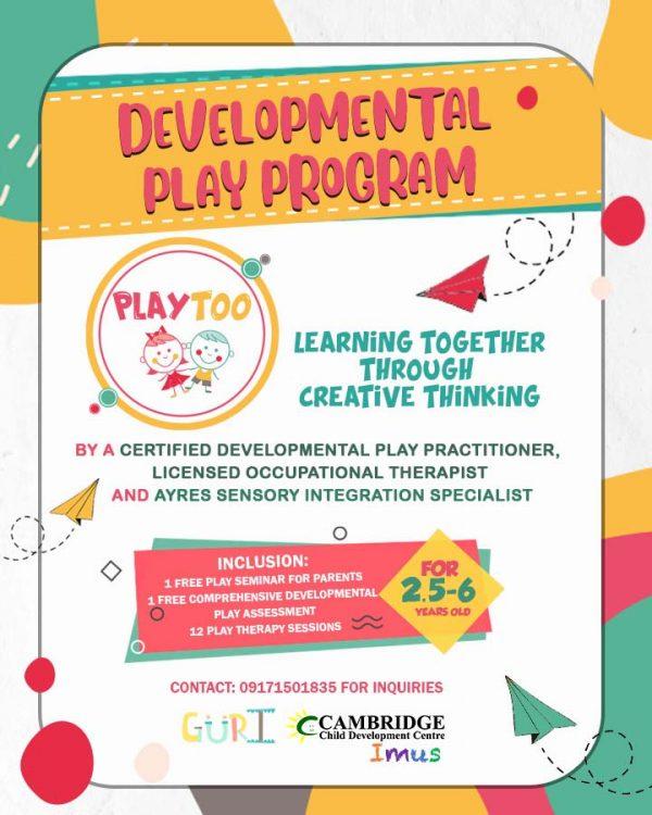 Cambridge Imus Developmental Play Program Poster