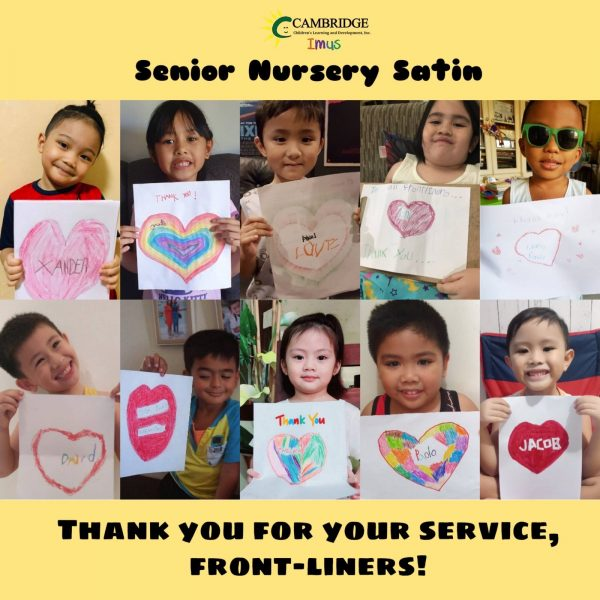 Thank-You notes for frontline service workers