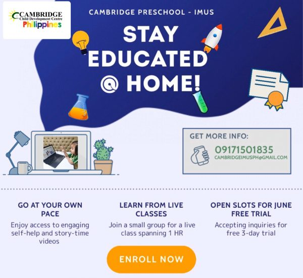 Cambridge Imus Stay Educated at Home