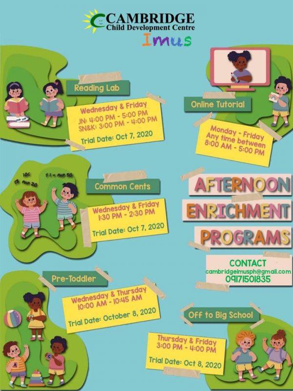 Cambridge Imus Afternoon Enrichment Programs