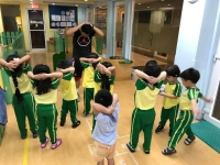 Fitness Coach visits Sr. Nursery