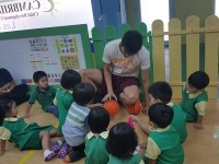 Nursery: A Visit From a Basketball Player