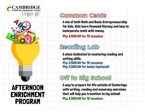 Cambridge Legaspi Afternoon Enrichment Program