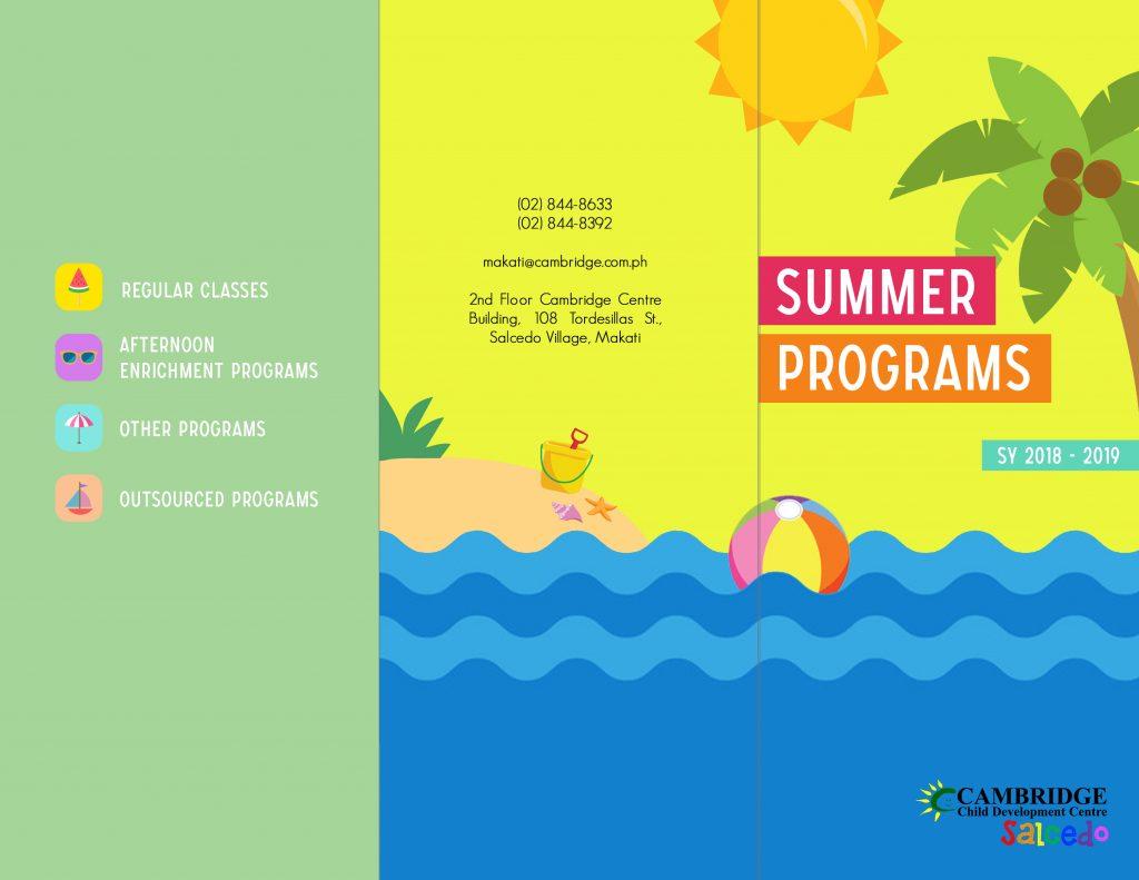 Summer Programs SY 18-19 Flyer 1