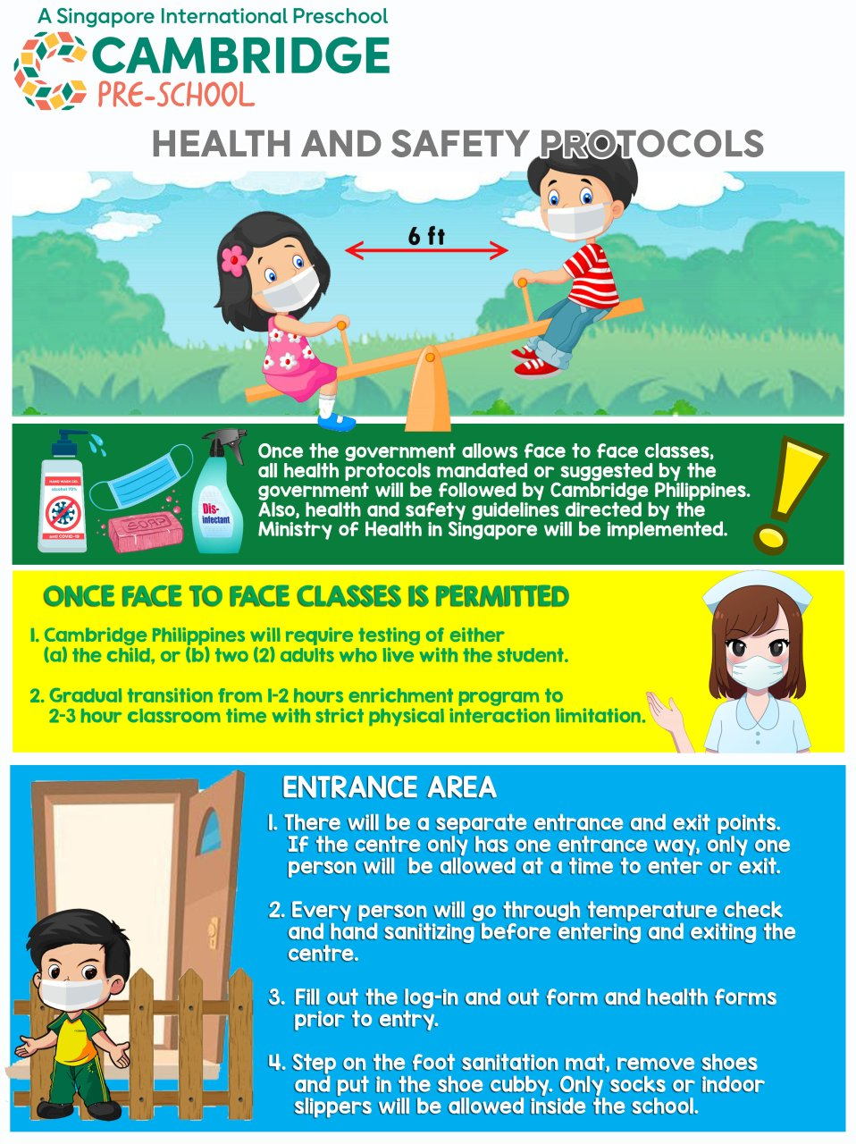 Cambridge Child Development Centre - Health and Safety Protocols for Face-to-Face Classes 1