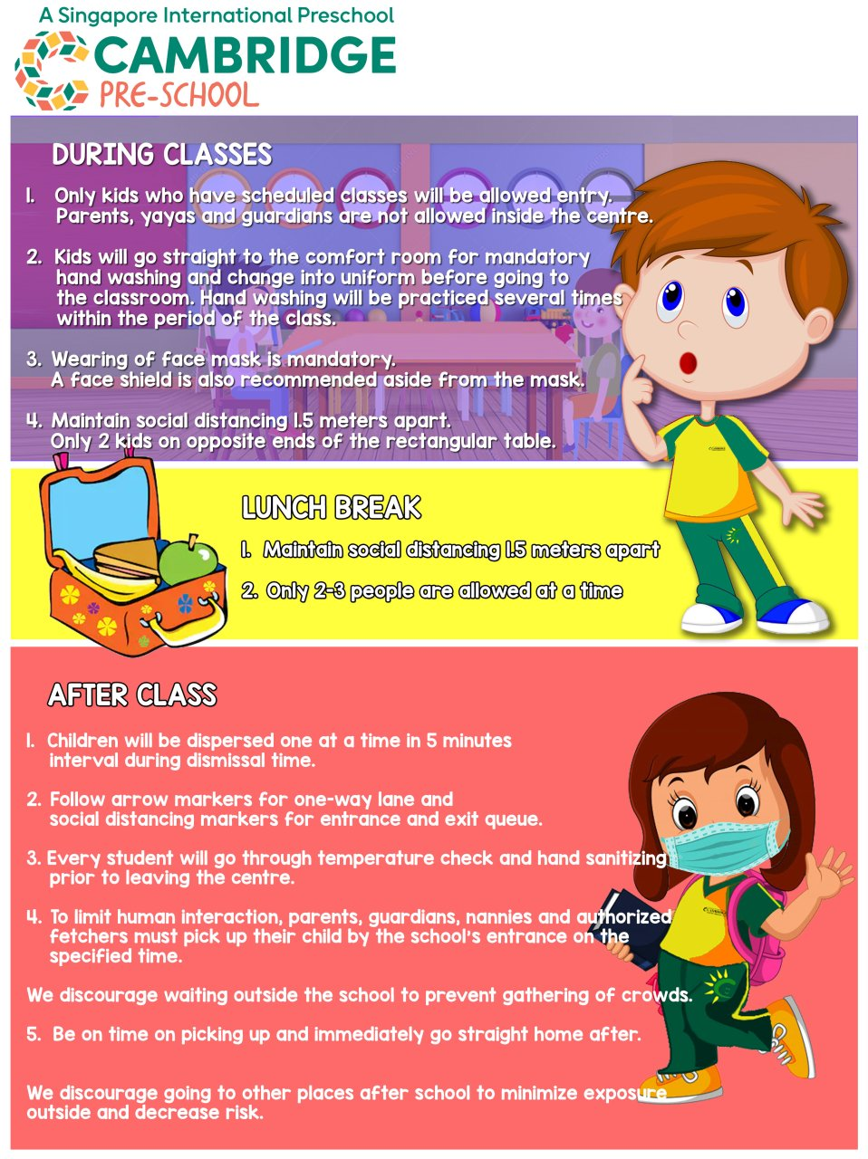 Cambridge Child Development Centre - Health and Safety Protocols for Face-to-Face Classes 2