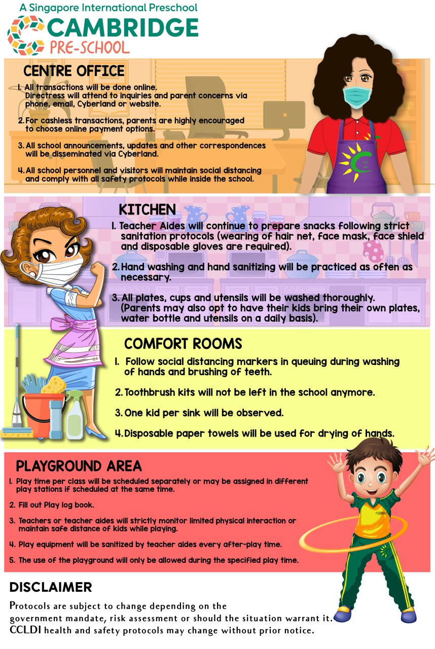 Cambridge Child Development Centre - Health and Safety Protocols for Face-to-Face Classes 3