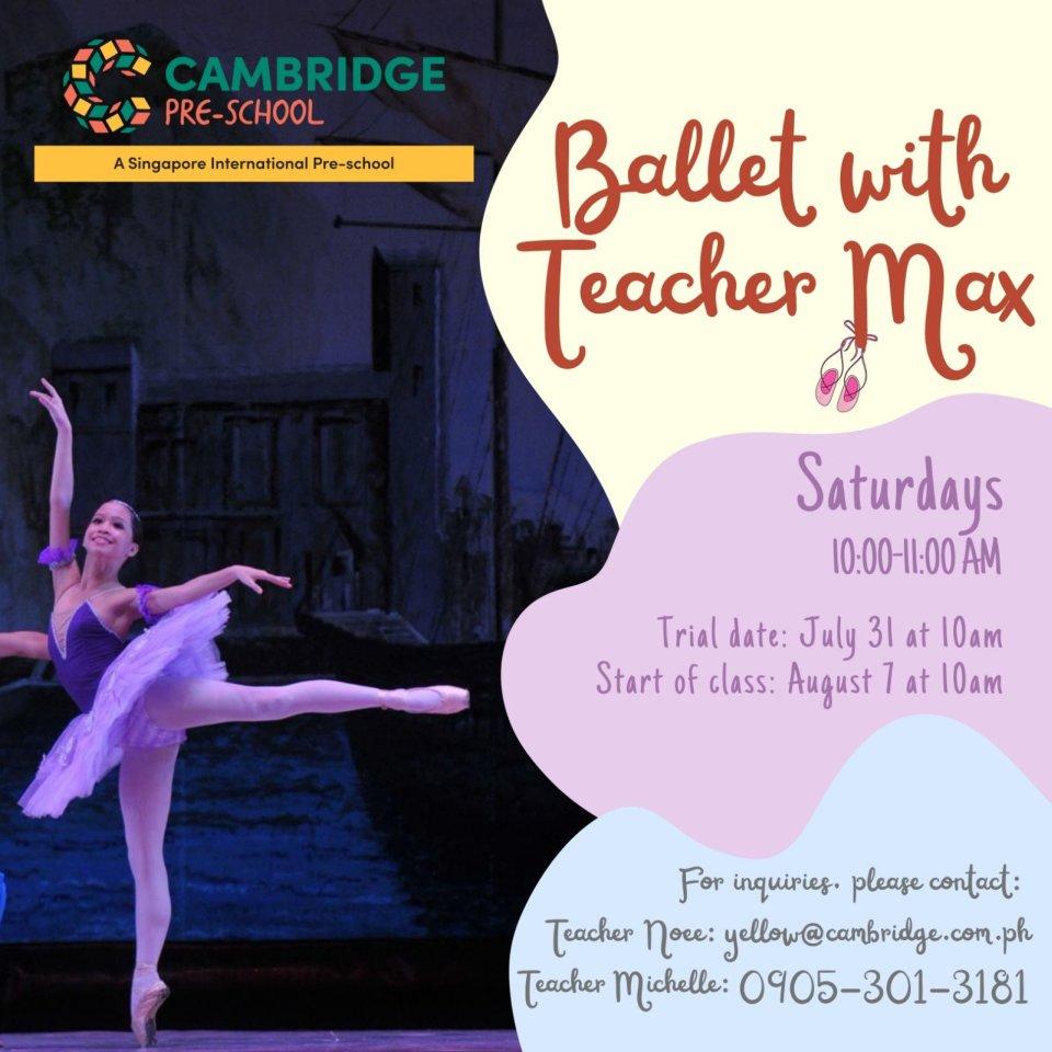 Ballet with Teacher Max